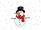 Screenshot: LIFEtool App Christman HokusPokus, snowman with red scarf and black hat