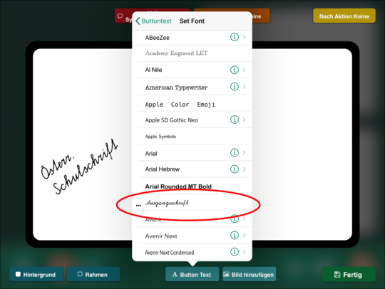 Abbildung: Screenshot App GoTalk Now