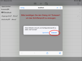 Abbildung: Screenshot AnyFont