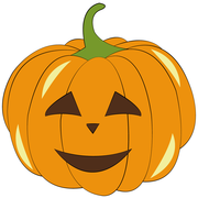Icon: orange Pumpkin with Face, LIFEtool App Halloween HokusPokus