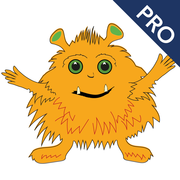 Icon: cute little Monster Quitschquatsch who turns out to be a language explorer