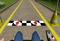 Screenshot: Rollstuhlsimulator-Programm WheelSim