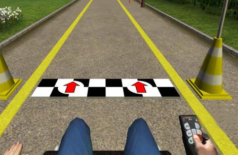 Screenshot: Rollstuhlsimulator-Programm WheelSim
